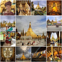 My best of Yagon - Myanmar (Bn) Tags: fdsflickrtoys myanmar birma burma yangon rangoon former capitol street candid monk bikes taxi city six million people buddhist temple botataung pagoda botahtaung gautama buddha hair 2500 years old religions locals 40m high seaport dazzling road car gold kyats umbrella sunshine fietstaxi gate entree hollow destroyed rebuild colonial overwhelmed infrastructure slums pilgrims buddism traffic cycling shwedagonpagoda 2600years 99m cars busy rooftop mosaic best collection expositie collage 50faves topf50 100faves topf100