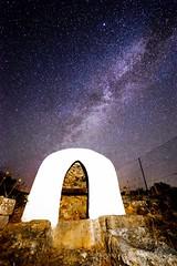 Pou de Llabritja (ANGELS ARALL) Tags: longexposure espaa stars spain well estrellas eivissa milkyway pozo pou santjoan largaexposicion vialactea eivissaibiza