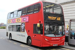 National Express West Midlands Alexander Dennis Enviro400 4880 (BX13 JVL) (Birmingham Central) 'Shy-Ann' (john-s-91) Tags: birmingham 4880 alexanderdennisenviro400 nationalexpresswestmidlands route63e bx13jvl lucozadezero