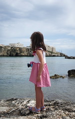 future photographer (SS) Tags: summer vacation people italy holiday beach water landscape bay coast seaside waterfront pentax outdoor daughter shore riverbank vieste k5 2016 gargano ss kepcorautowideanglemc28mm128