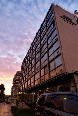 (Sofa Orellano) Tags: chile pink sunset cloud sun reflection cars glass argentina colors clouds 35mm lumix photography lights luces arquitectura edificios mine exposure colores panasonic reflejo catchy