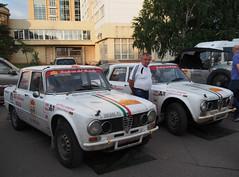1969 - Alfa Romeo Giulietta TI & 1973 - Alfa Romeo Giulia Super (Jasonito) Tags: paris classic car russia rally olympus retro oldtimer motor  omsk challenge peking 6th omd the 2016    em5   parispeking beijingparis   panasonic14140mmf4058 omdem5