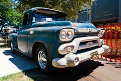 1958 GMC 100 pickup (hz536n/George Thomas) Tags: summer copyright truck canon rust michigan rusty canon5d 100 flint gmc carshow 2016 ef1740mmf4lusm cs5 sloanmuseum sloanmuseumautofair
