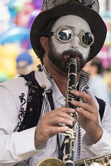 Steampunk Clarinet (AllenFreeman) Tags: county sandiego sony goggles fair entertainer woodwind clarinet steampunk ar7ii ar7m2