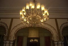 Chandeliars (VinayakH) Tags: india gardens royal palace hyderabad royalpalace nizam telangana chowmahallapalace
