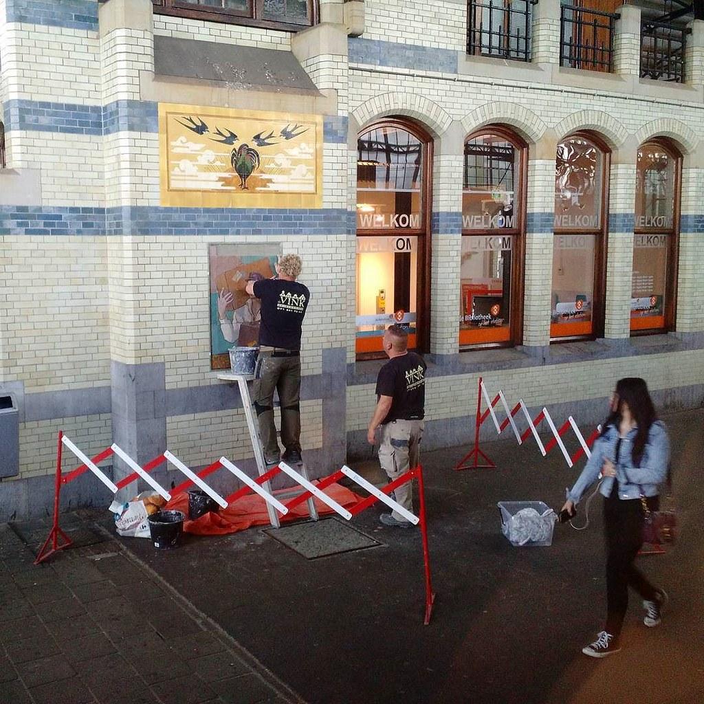 tegelkunstonderhoud op Station Haarlem