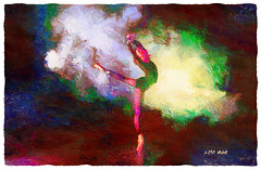Smoke and Mirrors - Humo y Espejos (Leo Bar) Tags: dance danza digitalart painting pixinmotion texture textura colors creative compositing sensual smoke lighting leobar humo luz reflejos netartii awardtree art artwork relief