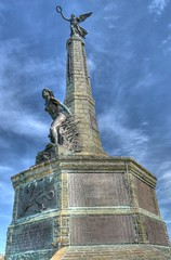 why the angels weep (matthegarty) Tags: statue angel aberystwyth warmemorial hdr