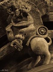 The Guardian (Bijesh Chiramel) Tags: sculpture temple pillar halebidu gaurdian hoysaleshwara