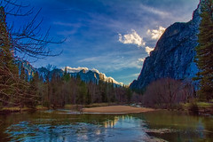 Early Evening in Yosemite Valley (HSS) (buffdawgus) Tags: california northerncalifornia reflections landscape yosemite yosemitenationalpark yosemitevalley mercedriver sierranevadarange canon7d canon1585mmusmis lightroom4 topazsw dailyrayofhope2013