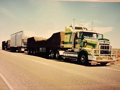 Triple Roadtraining to Darwin (chugga81) Tags: old art cat truck cool iron power australia melbourne c15 double class semi special american badge perth adelaide trailer grille aussie hampton 18 tnt heavy past scroll kenworth bullbar aerodyne t650 roadranger chugga81