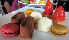 High Tea, Sydney, Australia (Pranav Bhatt) Tags: dessert strawberry sweet chocolate small sydney australia mini biscuit pastry pastries whitechocolate mousse chocolatemousse shortcake hightea macaron smallsweets