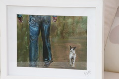 Mark and Jax in Pastels (made by maxine) Tags: dog art handmade jackrussell pastels parsonrussellterrier pastelart