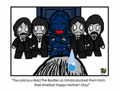 Little Robots Sunday Strip #91: The Beatles (Eye of The Sun God) Tags: art illustration little sketchbook robots pro beatles webcomic the ipad