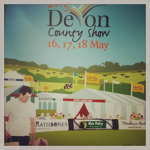 Prepping for the Devon County Show.