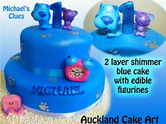 MICHAELS CLUES CAKE (Anita (Auckland Cake Art)) Tags: birthday new wedding newzealand party dog baby art clock cakes cake cat island soap stag chocolate blues auckland zealand samoa pacifica samoan clues hens fondant tongan sugarpaste cricut aucklandcakeart