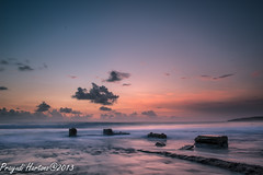 The Silence Rocks... (Prayudi Hartono) Tags: sunset sea sky cloud beach rock westjava sukabumi d800 jawabarat ujunggenteng