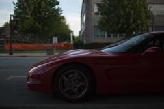 Red Corvette (animefx) Tags: road street camera city shadow red color colour car digital canon eos illinois spring curves fast shade vehicle springfield dslr corvette ff sportscar redcorvette 35mmf14l 2013 5dmkiii 5dmk3 5d3 5dmarkiii 5dmark3