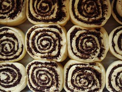 Chocolate Swirl Buns: Proofed (ComeUndone) Tags: bread baking chocolate cinnamon swirl yeast bun americastestkitchen smittenkitchen cooksillustratedcookbook enricheddough
