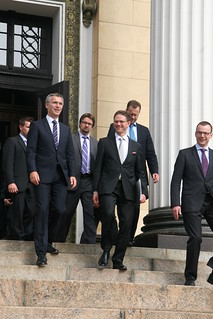 Meeting of PM Jens Stoltenberg and PM Jyrki Katainen in Helsinki/17th of May