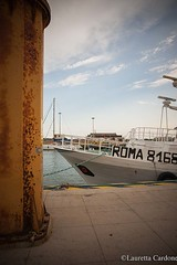 glimpse with boat in a sea channel (lauretta cardone) Tags: sea sky rome boat glimpse channel
