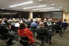 Hesburgh Lecture 2012 - NDSeattle (NDSeattle) Tags: seattle november school irish ted father dean whitney law greater priest fighting notre dame lecture 2012 dorsey hesburgh ndls