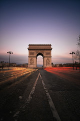 Arc De Triomphe (Luca Libralato) Tags: road street longexposure paris france champselysees arch traffic arc francia arcdetriomphe arco parigi traffico arcoditrionfo esposizionelunga nd110filter tokina1116 canoneos5dm3