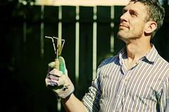 Gardener by Day (CarbonNYC [in SF!]) Tags: me self selfportrait portrait man gardener glove gloved tool thatisilooklikeatool dmgselfprime carbonnyc carbonsf