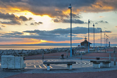 The Stone Jetty,Morecambe (Robert Mcewen) Tags: sunset sea coast pier seaside jetty coastal morecambe
