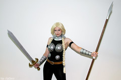 Brunnhilde - Ultimate Valkyrie (Vim Trivium) Tags: costume cosplay modeling posing sanjose blonde sword braids thor comicconvention valkyrie spear comicfest 2013 brunnhilde bigwow2013 ultimatevalkyrie asgardwarrior