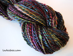 020 (LadeeBee_1) Tags: wool hand yarn dyed spun ladeebee