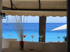 Cala Sant Vicent (SergioBarbieri) Tags: sea espaa beach bay turquoise eivissa umbrellas balearicislands baleari calasantvicent