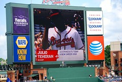 Teheran's Record Setting Game (Valerie Rene) Tags: baseball braves teheran atlantabraves mlb