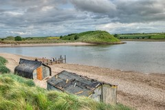 Filming in Alnmouth (simonwaroberts) Tags: river tv seaside jetty huts alnmouth drama