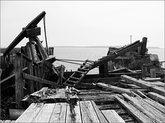 Gone to Ruin (joeldinda) Tags: bw ferry dock michigan rail sosad upperpeninsula mackinac stignace mackinaw saintignace joeldinda c50 wawatam chiefwawatam 3662012