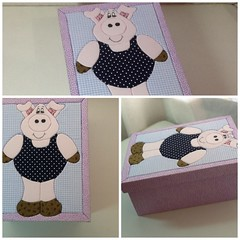 foto (1) (limonada Gelada) Tags: artesanato caixa patchwork porco caixas trabalhosmanuais porquinha