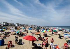 Beach Umbrellas (markchevy) Tags: ocean beach landscape photo newjersey interesting colorful pix graphic sandy nj picture scene atlantic vista boardwalk umbrellas jerseyshore pictorial oceangrove canonpowershotelph500 markchevy