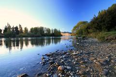 Good Evening!! (Magryciak) Tags: newzealand sky reflection beach water rock canon river eos wideangle southisland wanaka polariser 2013