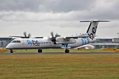 G-ECOF DHC-8Q 402 Flybe MAN 10-08-13 (PlanecrazyUK) Tags: man manchester egcc flybe dhc8q402 gecof