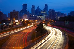 Minneapolis, Minnesota [3633] (cl.lin) Tags: longexposure minnesota night highway cityscape minneapolis 35w nikond600 nightcityshot