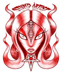 Harpy (stupidartist) Tags: art comics artist drawing snake hell 666 evil heavymetal creepy pentagram comix comicbook satan horror demon devil stupidartist