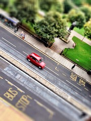 Toy car (Rob Emes) Tags: street city urban town edinburgh taxi 365 iphone tiltshift mercurehotel 365project iphone5 iphoneography 3652013 originalfilter sep2013