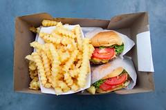 Burgers and fries (roboppy) Tags: burgers madisonsquarepark flatiron shakeshack