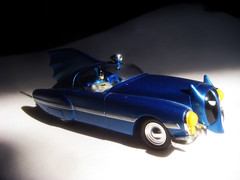 Batmobile Metal 1950s Batman Car 6734 (Brechtbug) Tags: show blue fiction film robin car television metal danger toy toys book miniature bill tv corgi automobile comic noir fighter shaped finger character bat wing replacement bob s super science 1966 adventure plastic crime strip 1950s future hero batman scifi series shield 50s pulp 1968 kane collectible fin batmobile past 1950 serial corgis costumed 267 2013 batmobiles