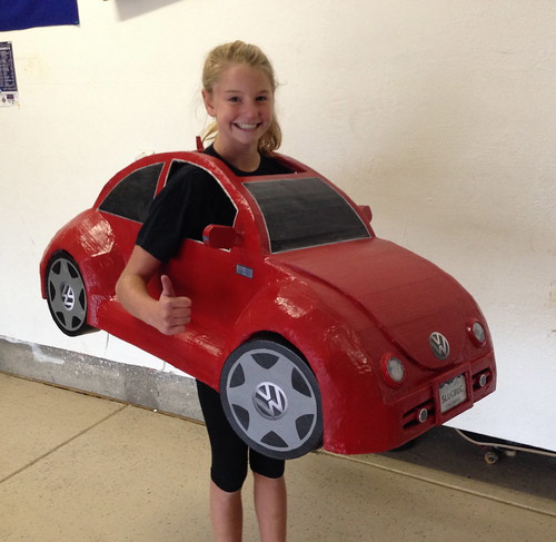 Ellie's VW Beetle Halloween Costume