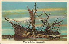 Wreck of the Peter Iredale 1906 (tico_manudo) Tags: oregon bark barcos vintagepostcards tarjetasantiguas tarjetaspostalesvintage