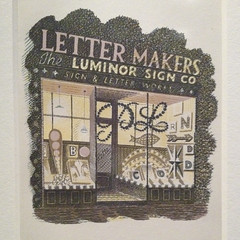 Lettermakers, from High Street | Eric Ravilious prints | Pallant House Gallery | Chichester - 4 (Paul Dykes) Tags: uk england westsussex prints woodcut chichester pallanthousegallery ericravilious