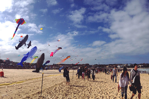 Clouds x Kites x People