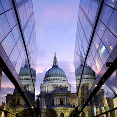 St Paul's Cathedral (The Green Album) Tags: sunset london glass architecture contrast reflections shopping twilight worship religion stpaulscathedral iconic