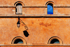 Shadow (Philipp Klinger Photography) Tags: blue windows light shadow sky en orange sun france building window lamp wall architecture facade nikon frankreich mediterranean south aixenprovence paca southern provence aix d800 provencealpesctesdazur nikond800